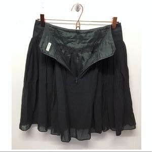 Odille | Anthropologie Silk Tulle Lined Skirt